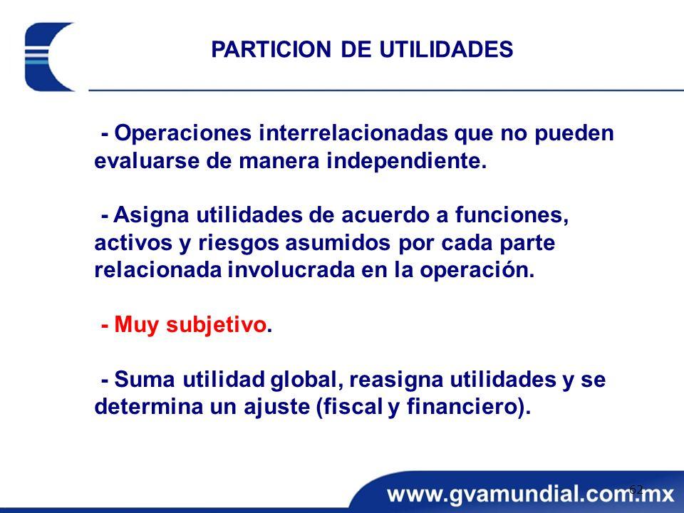 PARTICION DE UTILIDADES