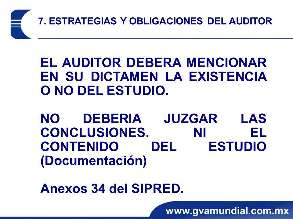 7. ESTRATEGIAS Y OBLIGACIONES DEL AUDITOR