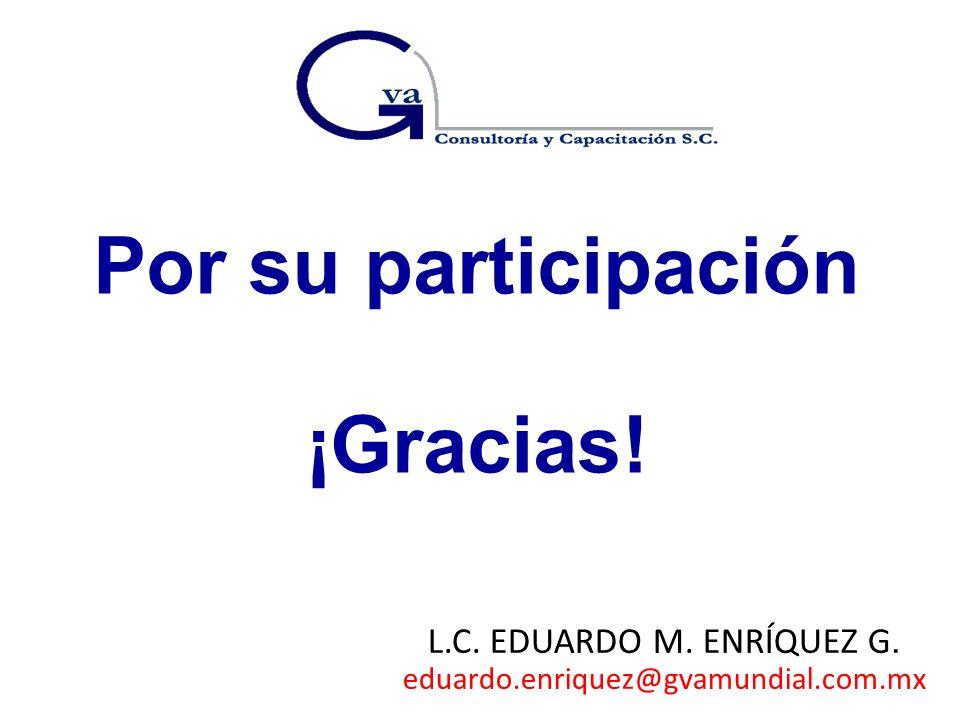 Por su participación ¡Gracias!