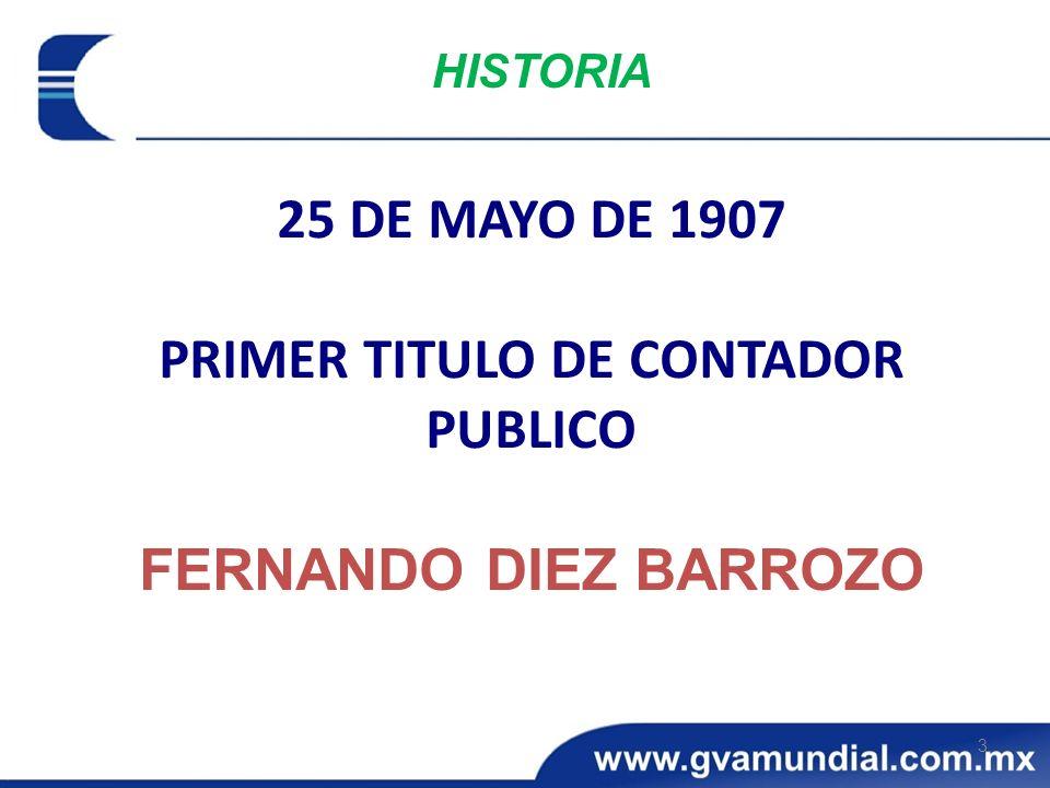 PRIMER TITULO DE CONTADOR PUBLICO