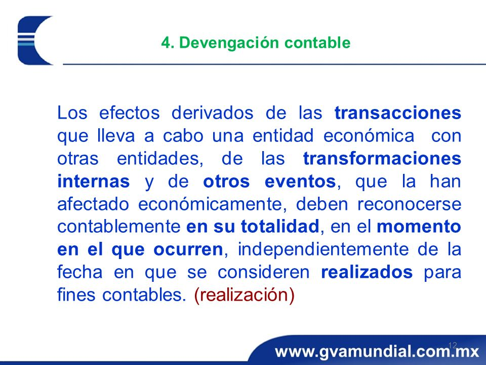 4. Devengación contable
