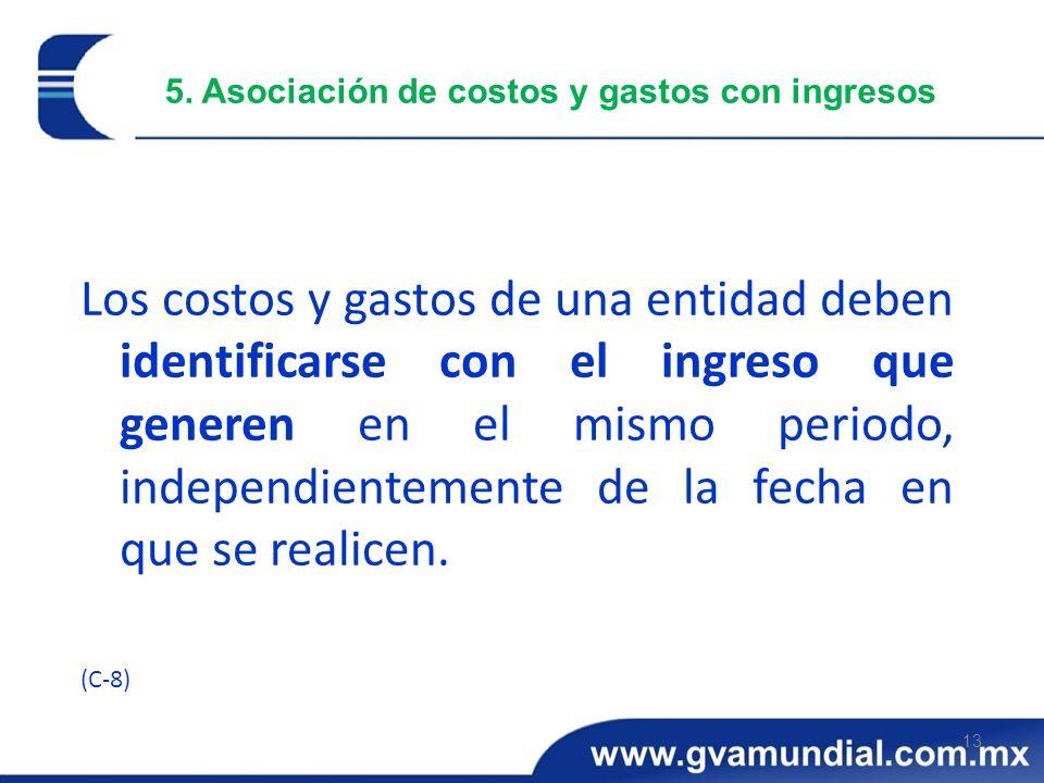 5. Asociación de costos y gastos con ingresos