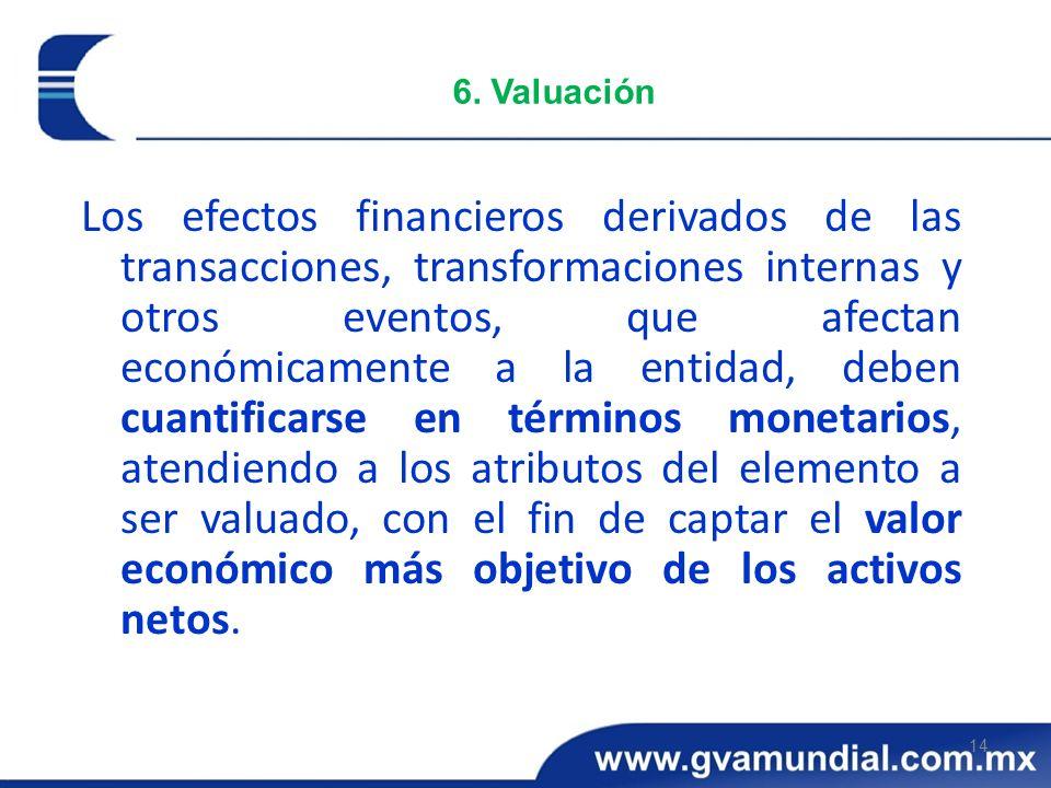 6. Valuación