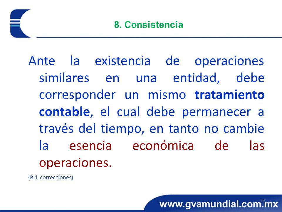 8. Consistencia