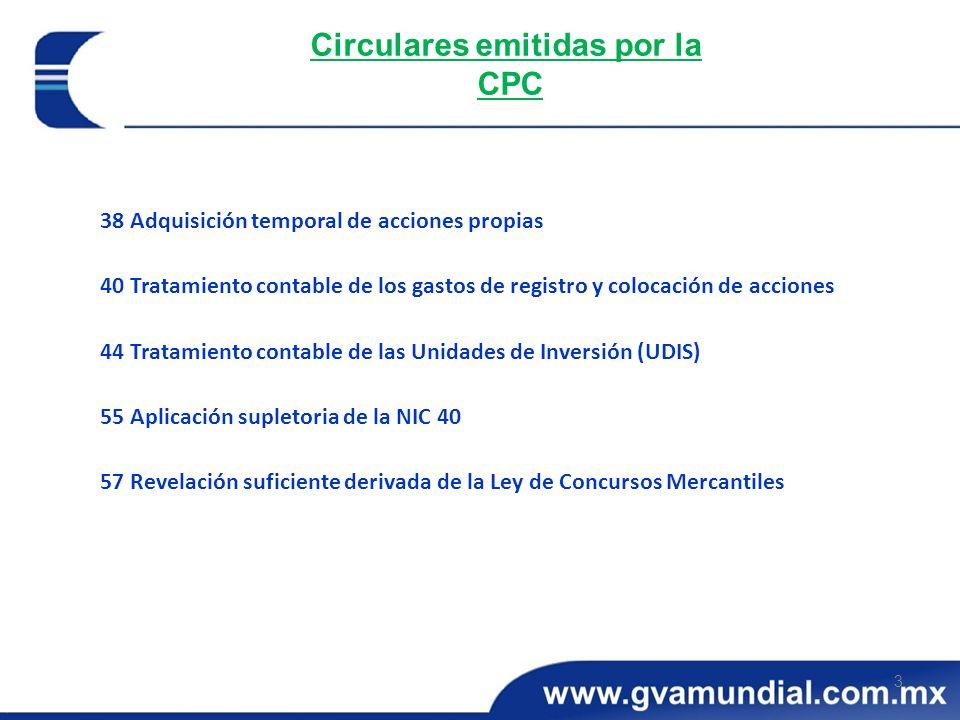 Circulares emitidas por la CPC