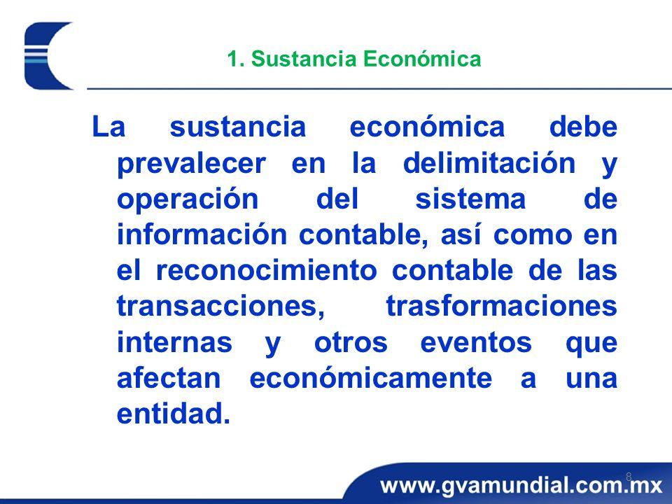 1. Sustancia Económica