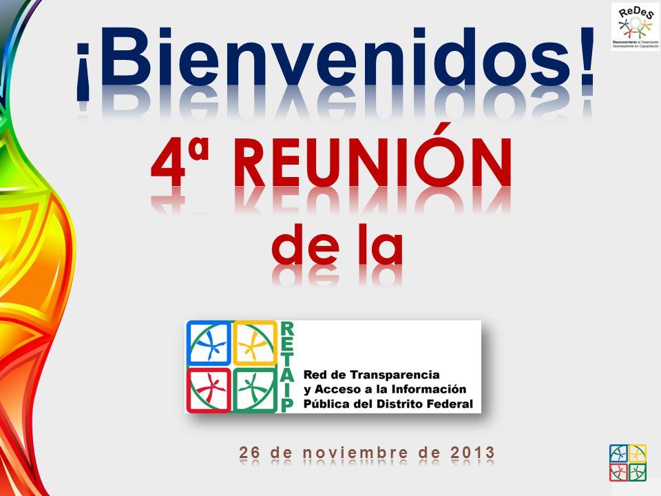 ¡Bienvenidos! 4ª REUNIÓN de la 26 de noviembre de 2013