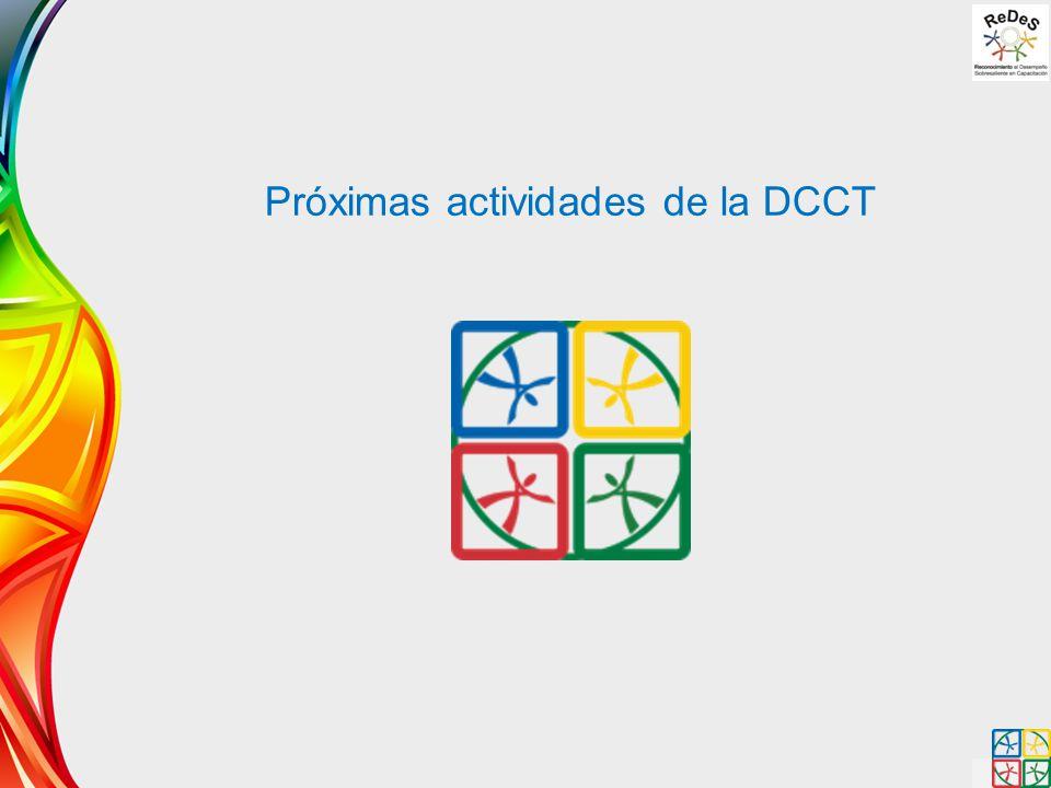 Próximas actividades de la DCCT