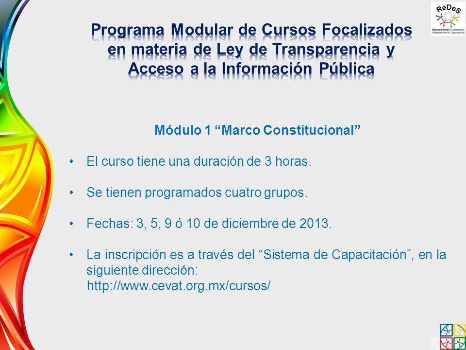 Módulo 1 Marco Constitucional