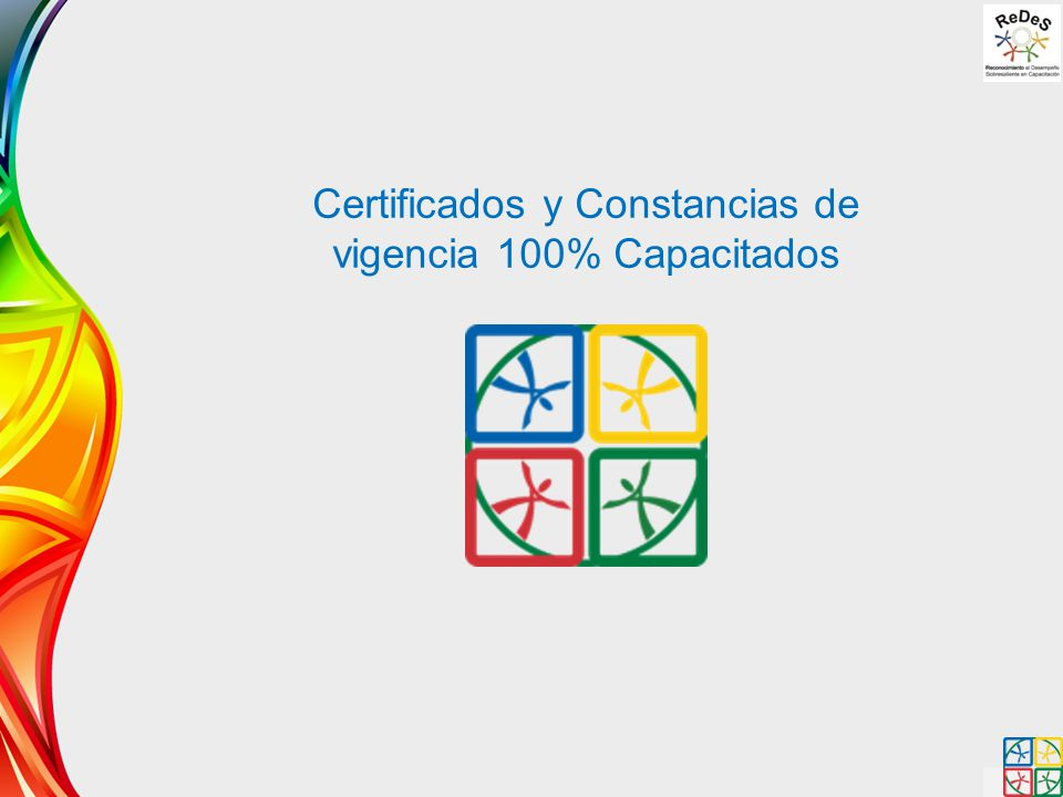Certificados y Constancias de vigencia 100% Capacitados