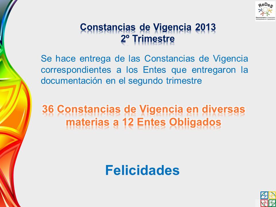 Constancias de Vigencia 2013