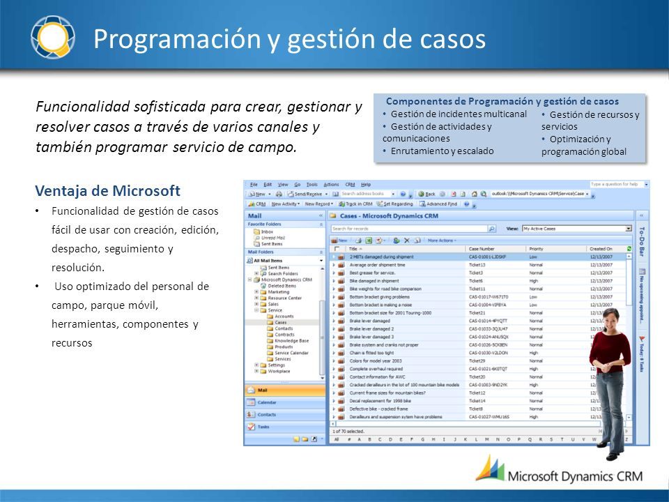 Programación y gestión de casos