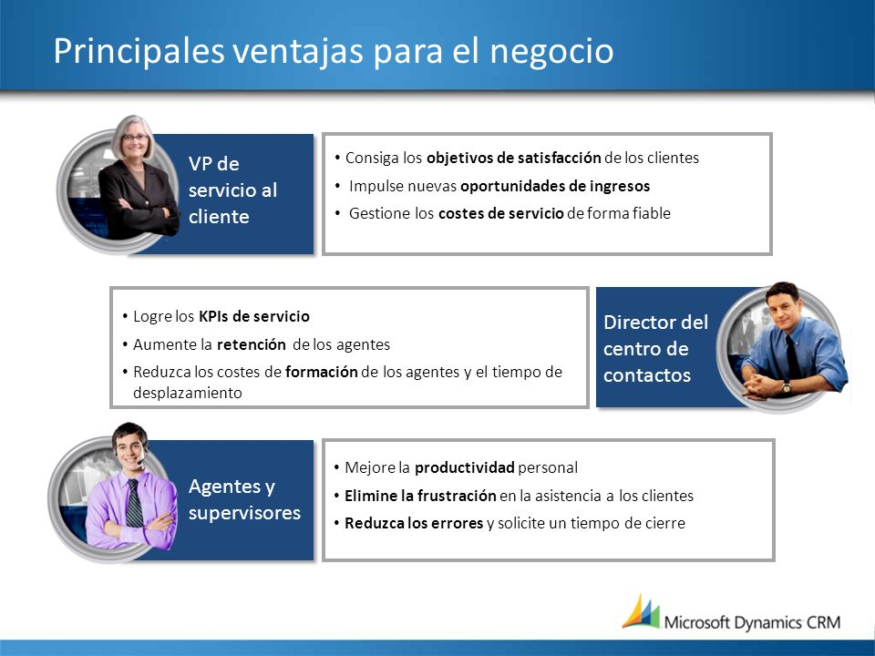 Principales ventajas para el negocio