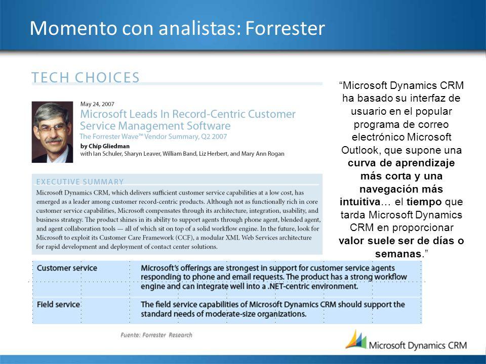 Momento con analistas: Forrester