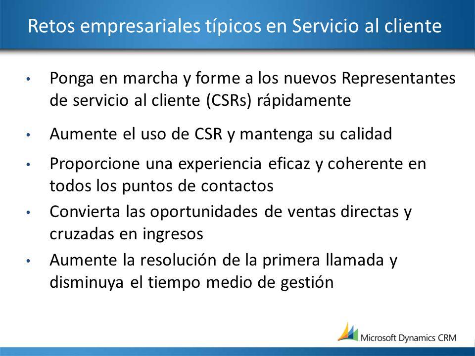 Retos empresariales típicos en Servicio al cliente
