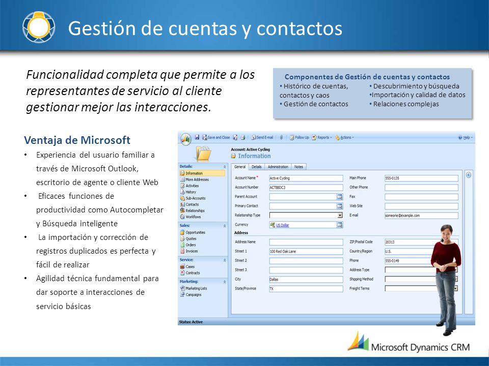 Gestión de cuentas y contactos