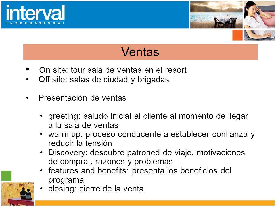 Ventas On site: tour sala de ventas en el resort