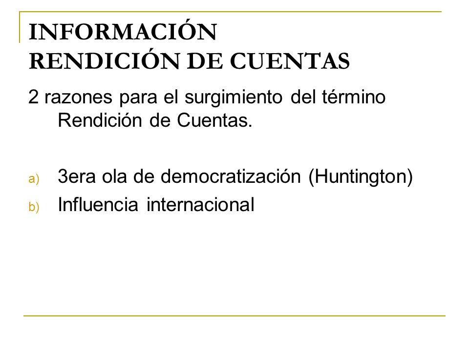 INFORMACIÓN RENDICIÓN DE CUENTAS