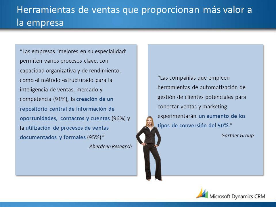 Herramientas de ventas que proporcionan más valor a la empresa