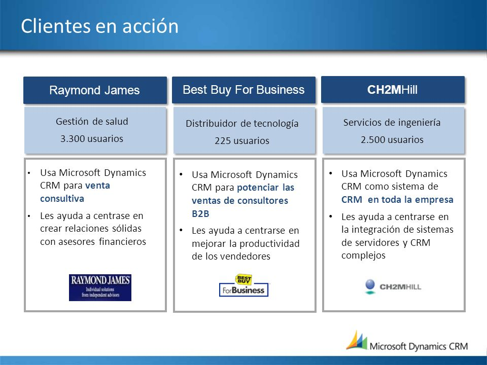 Clientes en acción Raymond James Best Buy For Business CH2MHill