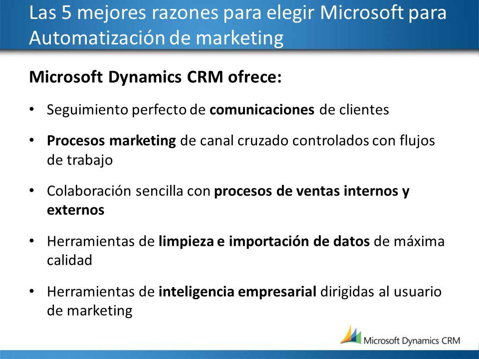 Las 5 mejores razones para elegir Microsoft para Automatización de marketing