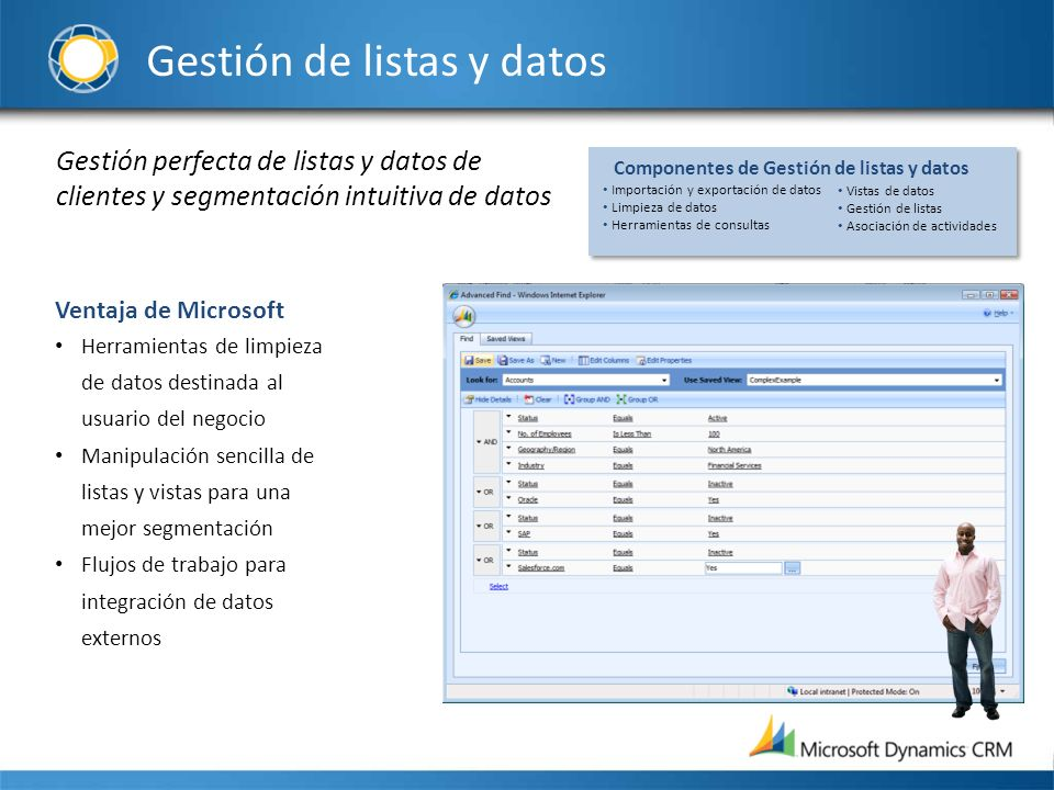 Gestión de listas y datos