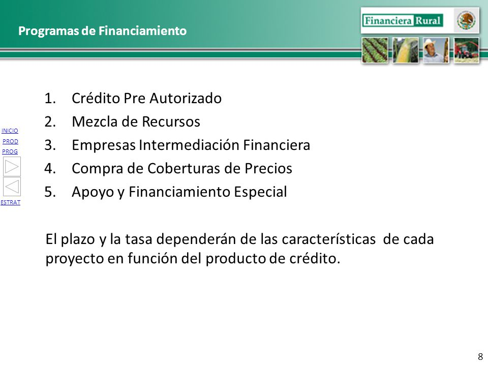 Programas de Financiamiento