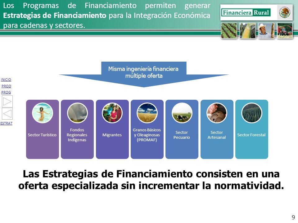 Las Estrategias de Financiamiento consisten en una