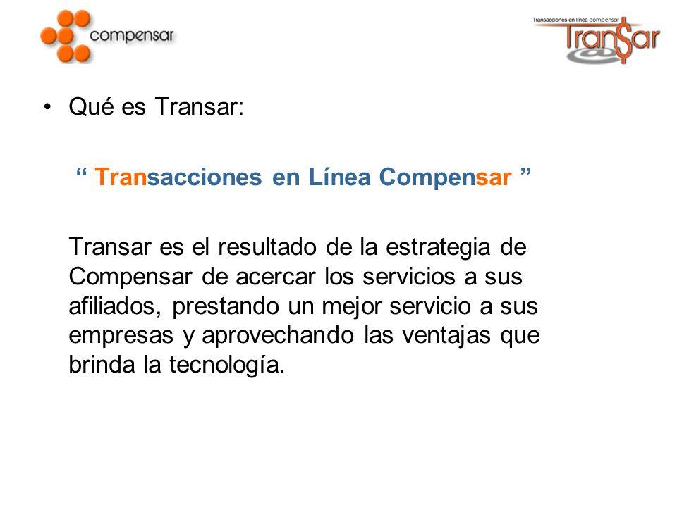 Qué es Transar: Transacciones en Línea Compensar