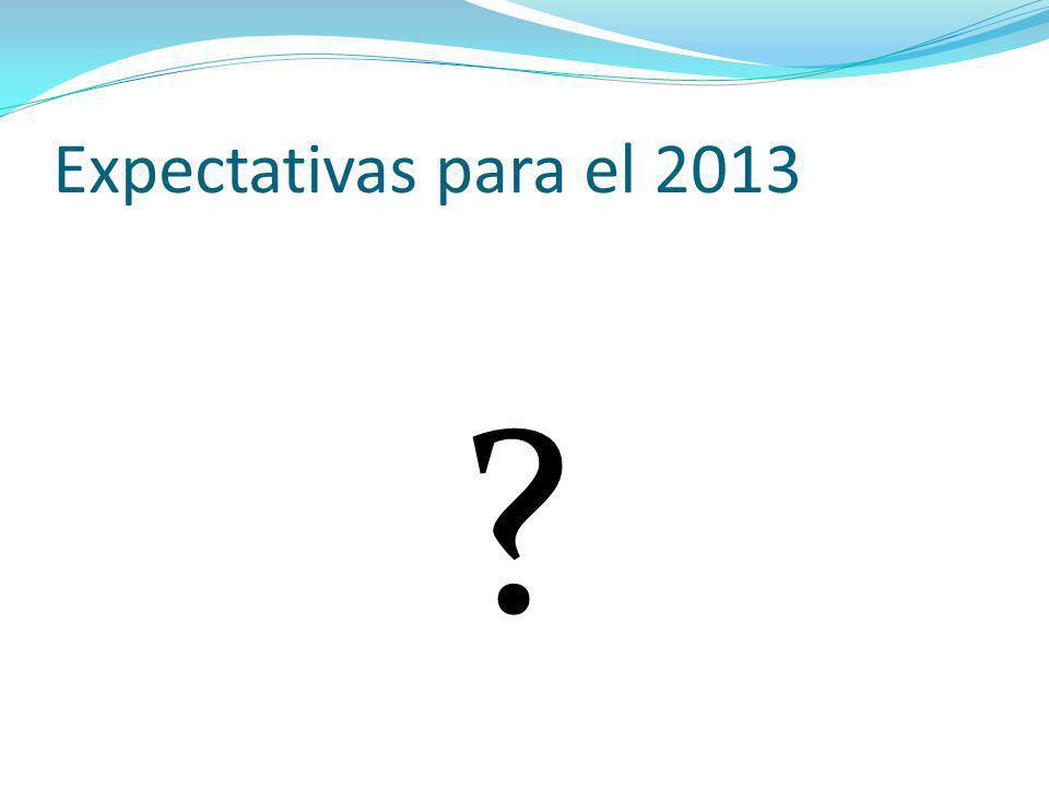Expectativas para el 2013
