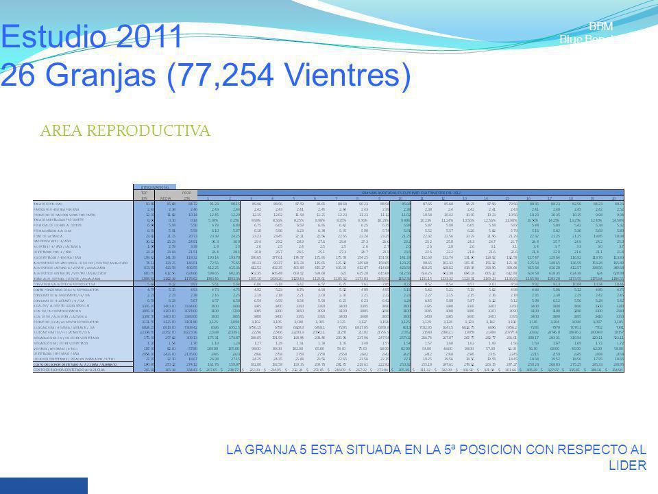 Estudio 2011 26 Granjas (77,254 Vientres)