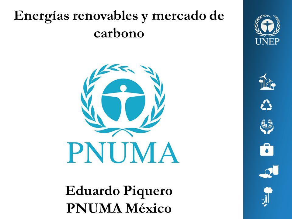 Energías renovables y mercado de carbono Eduardo Piquero PNUMA México