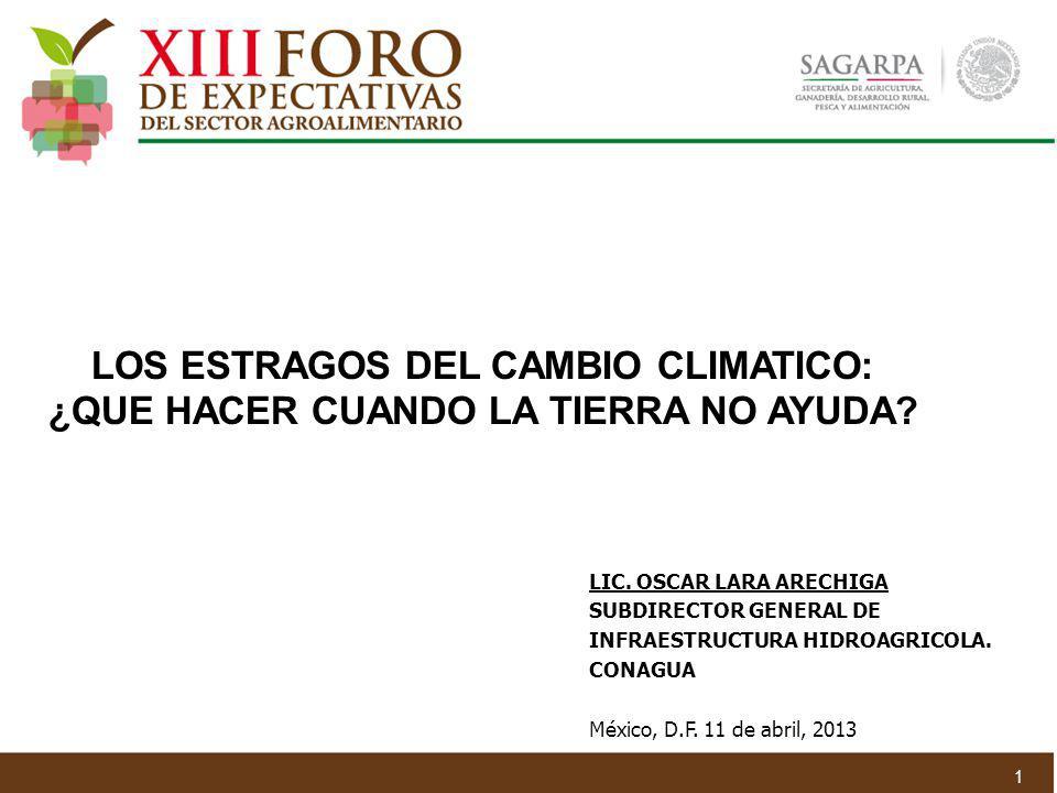 LOS ESTRAGOS DEL CAMBIO CLIMATICO: ¿QUE HACER CUANDO LA TIERRA NO AYUDA