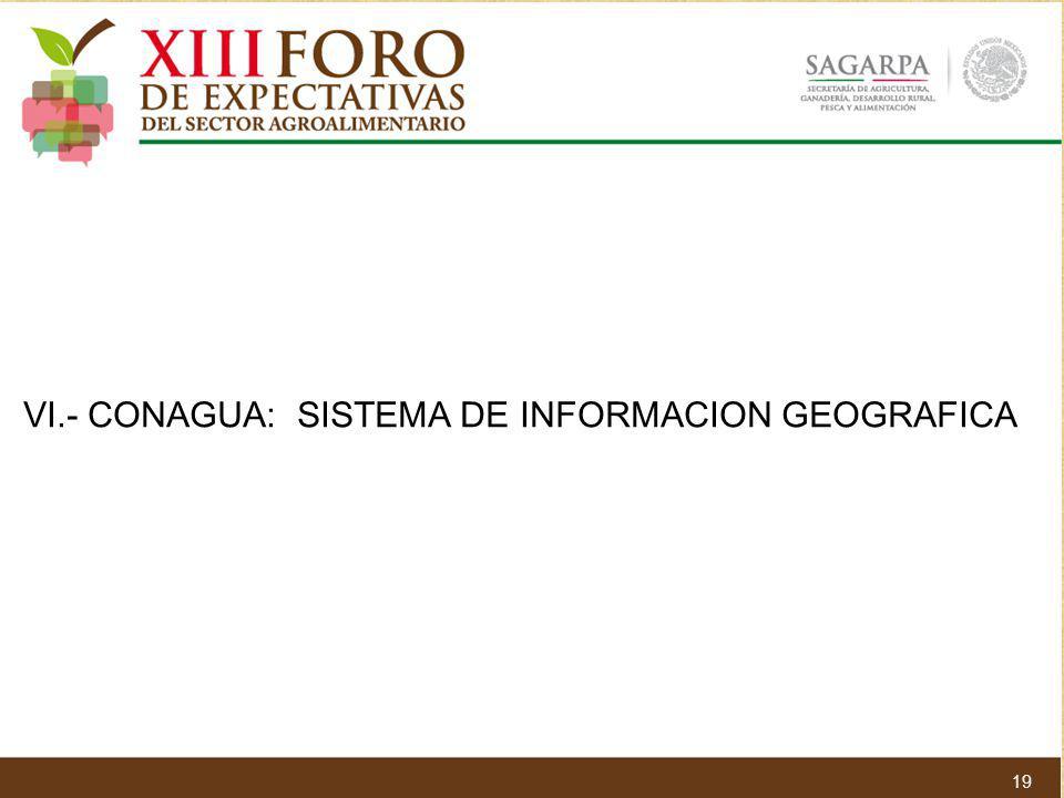 VI.- CONAGUA: SISTEMA DE INFORMACION GEOGRAFICA