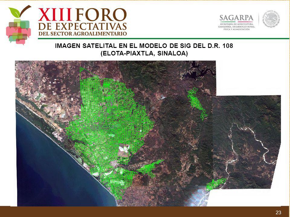 IMAGEN SATELITAL EN EL MODELO DE SIG DEL D.R. 108