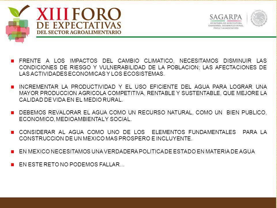 FRENTE A LOS IMPACTOS DEL CAMBIO CLIMATICO, NECESITAMOS DISMINUIR LAS CONDICIONES DE RIESGO Y VULNERABILIDAD DE LA POBLACION; LAS AFECTACIONES DE LAS ACTIVIDADES ECONOMICAS Y LOS ECOSISTEMAS.