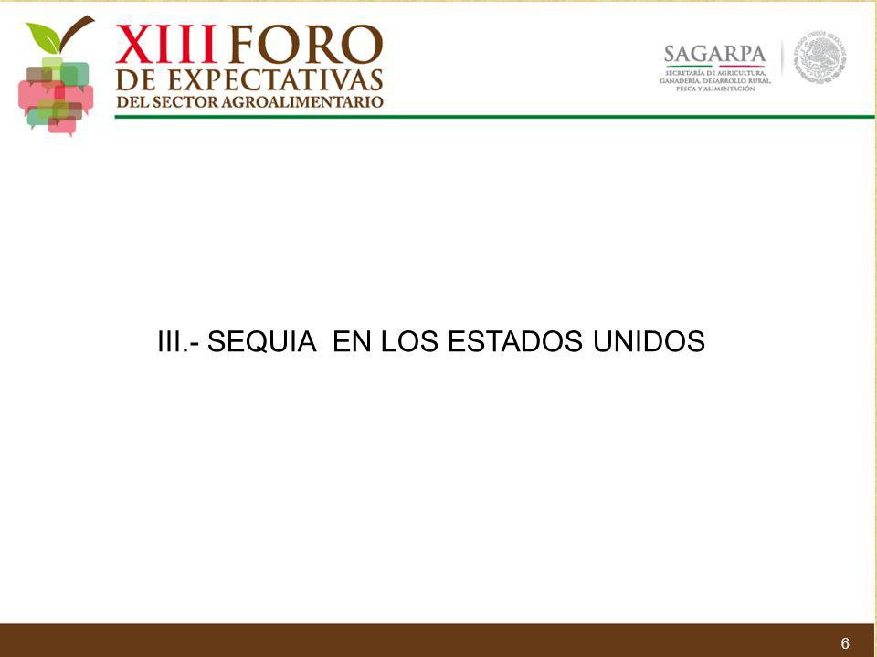 III.- SEQUIA EN LOS ESTADOS UNIDOS