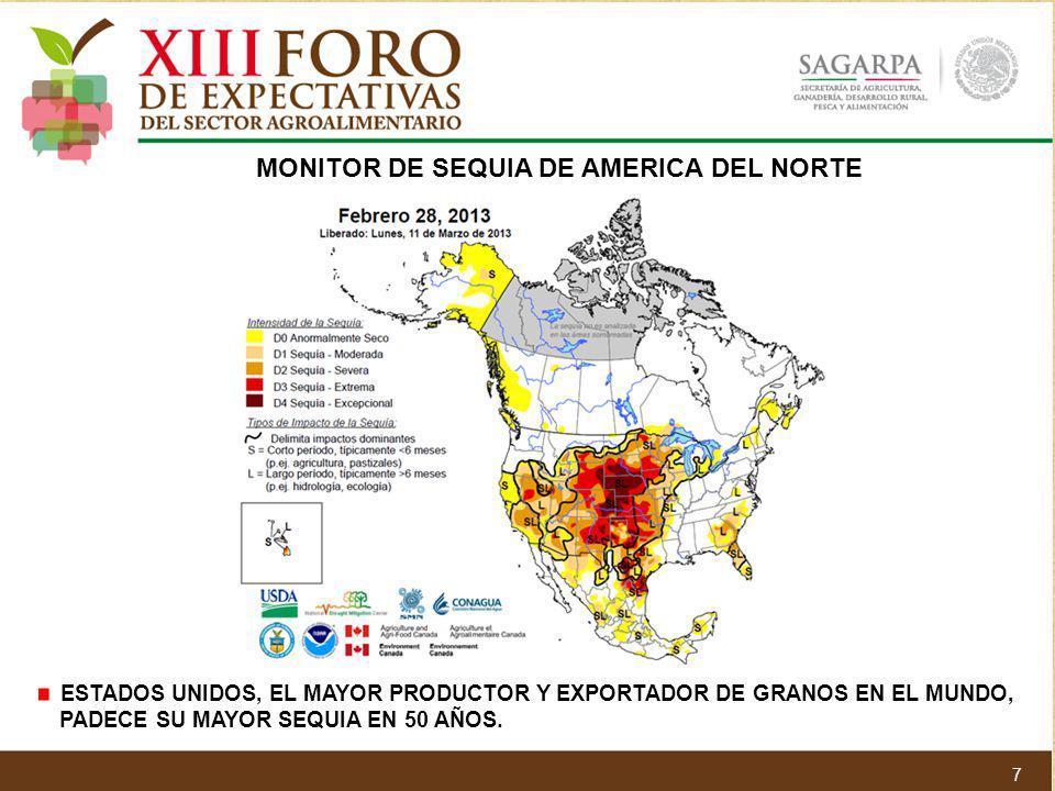 MONITOR DE SEQUIA DE AMERICA DEL NORTE