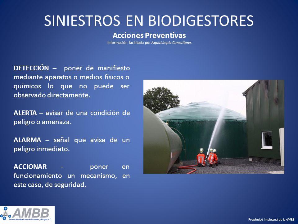 SINIESTROS EN BIODIGESTORES Acciones Preventivas Información facilitada por AquaLimpia Consultores