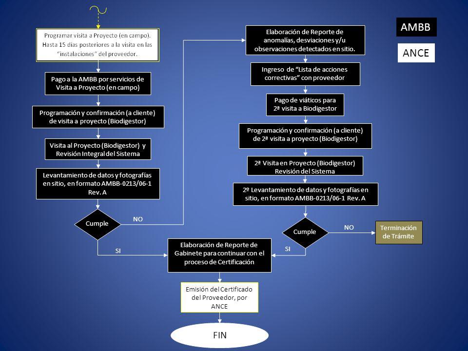 AMBB Elaboración de Reporte de anomalías, desviaciones y/u observaciones detectados en sitio. ANCE.