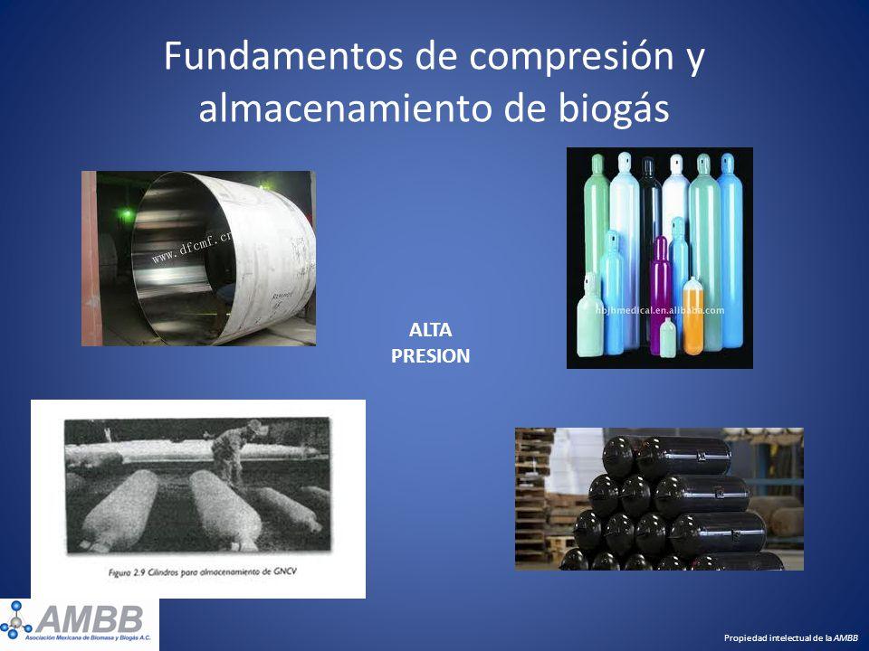 Fundamentos de compresión y almacenamiento de biogás