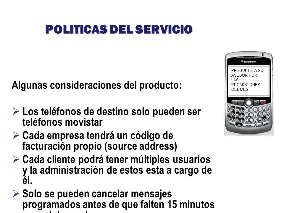 POLITICAS DEL SERVICIO