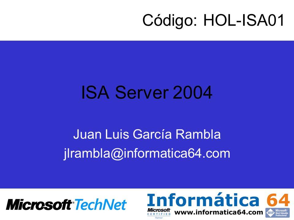 Juan Luis García Rambla jlrambla@informatica64.com