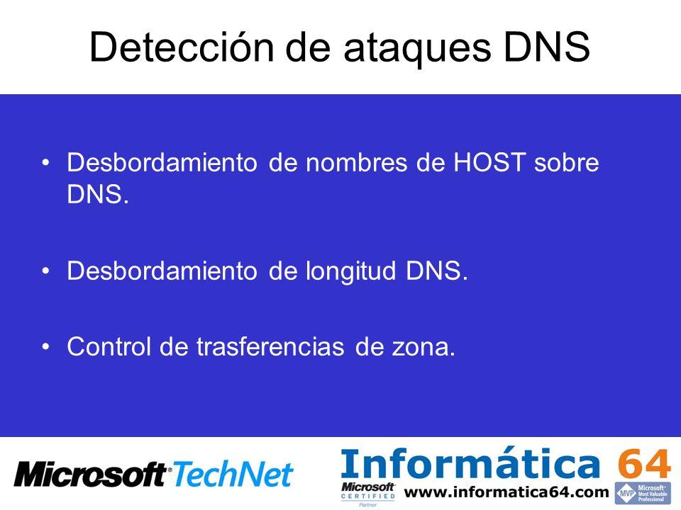 Detección de ataques DNS