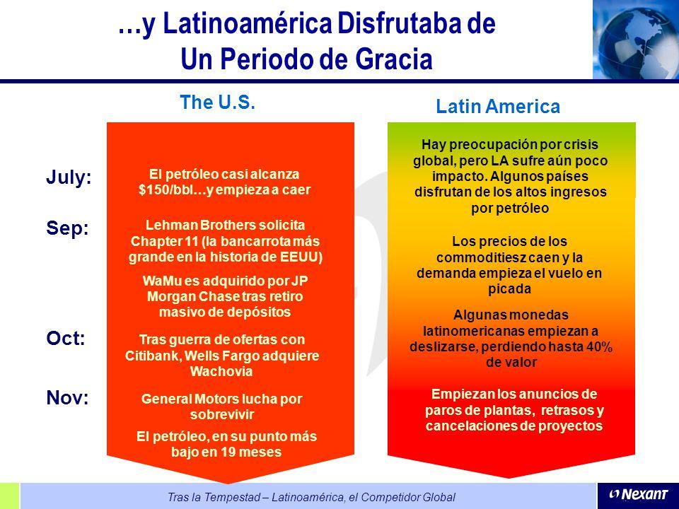 …y Latinoamérica Disfrutaba de Un Periodo de Gracia
