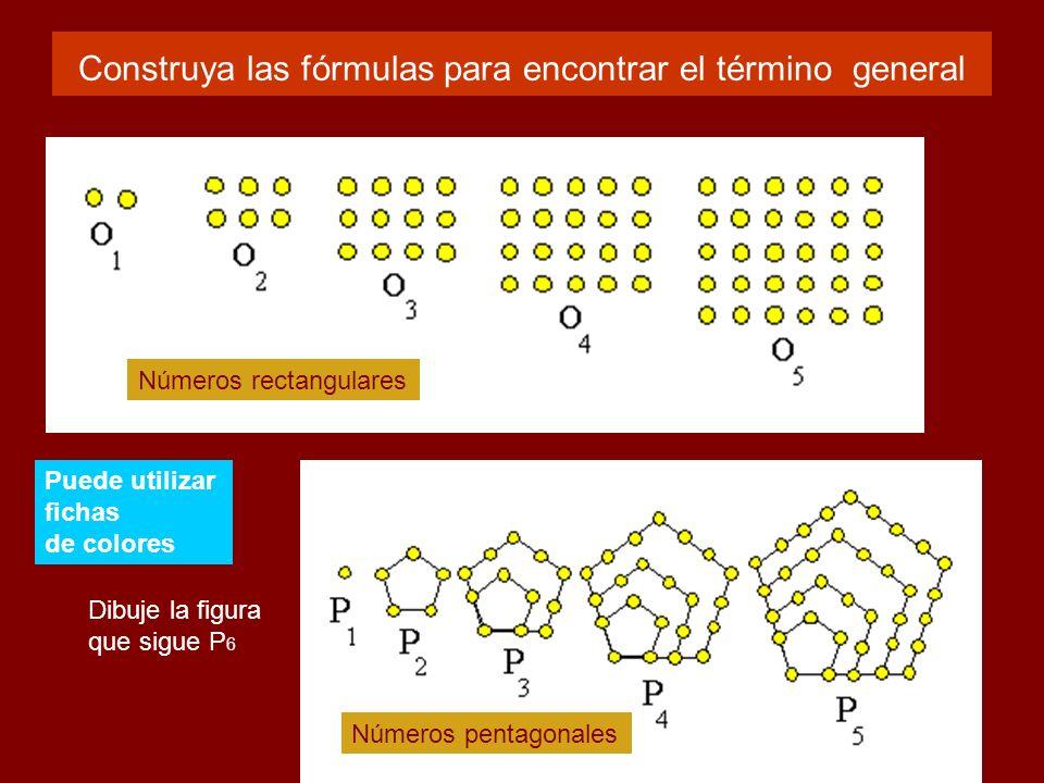 Construya las fórmulas para encontrar el término general