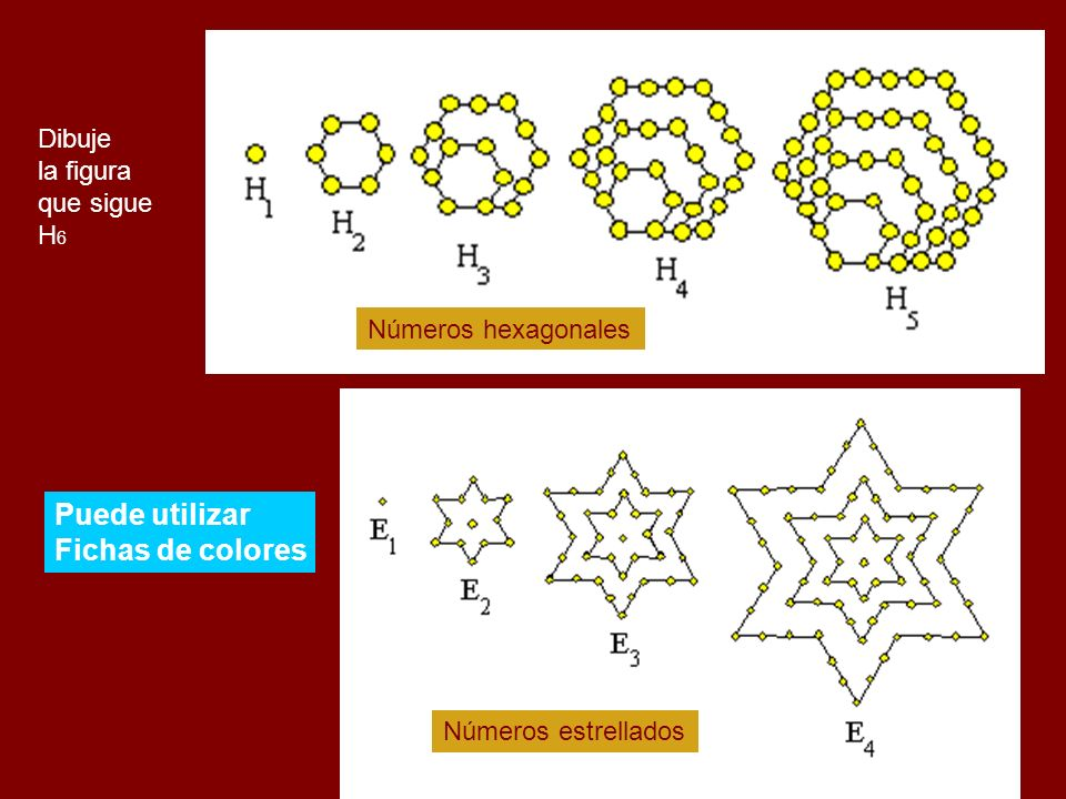 Puede utilizar Fichas de colores Dibuje la figura que sigue H6