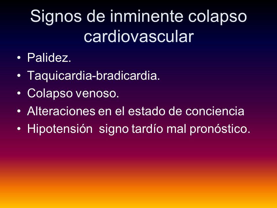 Signos de inminente colapso cardiovascular