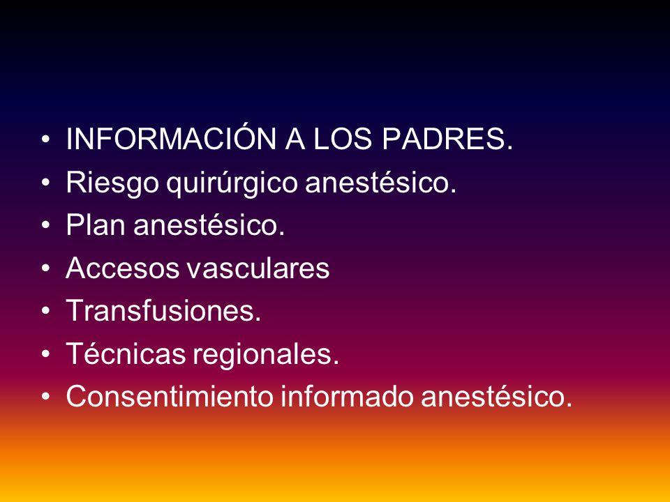 INFORMACIÓN A LOS PADRES.