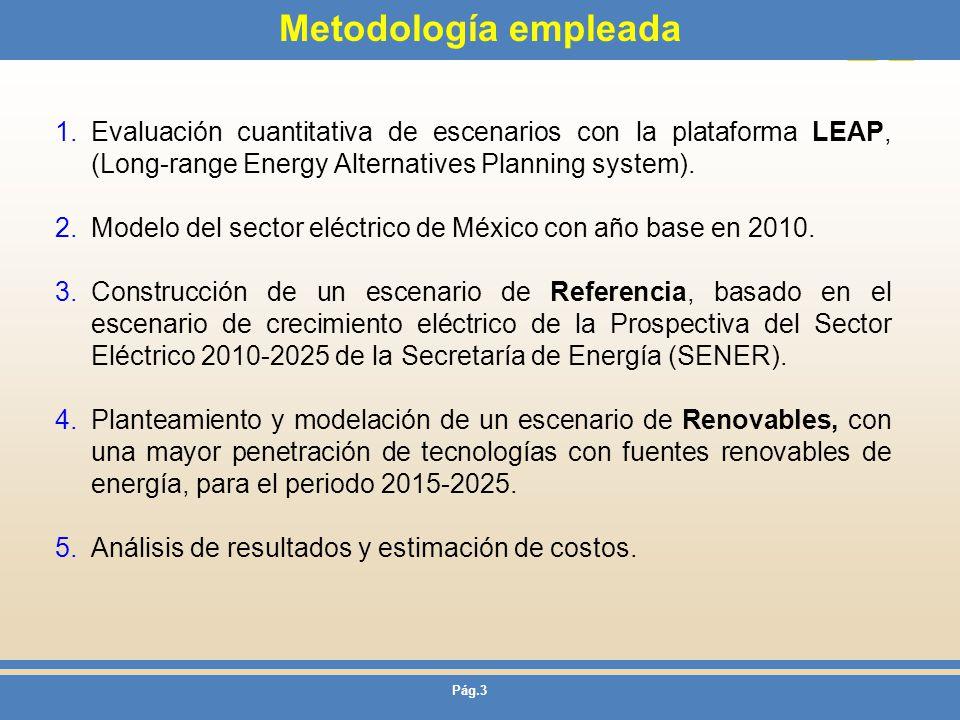 Metodología empleada Evaluación cuantitativa de escenarios con la plataforma LEAP, (Long-range Energy Alternatives Planning system).
